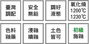 釉藥堂陶藝釉藥特色標示小圖-土色皆可-初級-色料